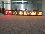 Bus programmabile di colore giallo P10 che sposta finestra (anteriore/posteriore) della visualizzazione di LED