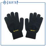 Черный цвет для вязания спицы прилива перчатки прилива