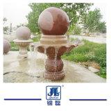 Il granito/marmo naturali che intaglia la fontana di acqua/sfera personalizza la fontana grigia della sfera del granito G603 per il giardino/parete/esterno/iarda esterni/plaza della decorazione
