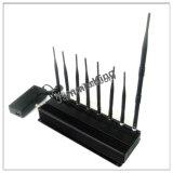 Novo Última 8 antenas de 5 GHz WiFi 2,4GHZ GSM 2G, 3G, 4G O GPS RC433 868MHz bandas de 18W 8 Jammer até 50m