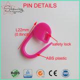 Spille di sicurezza di plastica del bello di colori 22mm di lavoro a maglia del punto ABS dell'indicatore