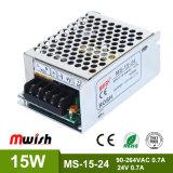 2017 neue Mini15w Gleichstrom-Versorgung mit RoHS Cer-Zustimmung (MS-15-24)