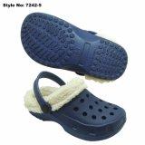 Белые дети засорению, Зимняя обувь для серии EVA засорению с накладкой мех