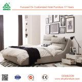 Neues antikes Gewebe-Bett-festes Holz-Rahmen-Bett, hölzerne Möbel-Betten