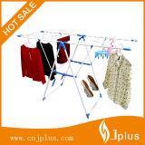 K-Tipo revestido percha blanca del polvo del embalaje de SKD del bebé de la percha con la cesta y los clips (JP-CR109PS)