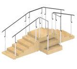 Прямые лестницы реабилитации с пандусом