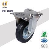 5 '' 125mm Nylon-PA-Schwenker-Oberseite-Platten-Industrie-mittleres Fußrollen-Rad für Laufkatze-Karre