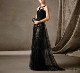 재고 Prom는 당 야회복 E1784를 구슬로 장식하는 레이스 Tulle를 옷을 입는다