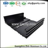 Anodize extrusión de aluminio plateado para el alquiler de equipos de audio el radiador