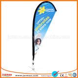 Kundenspezifische Ausstellung-Firmenzeichen gedruckte fliegende Strand-Markierungsfahnen-Fahne