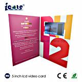 A forma personaliza o folheto do Cartão-Vídeo do Cartão-Casamento do cumprimento do Cartão-Vídeo do presente de aniversário 5 polegadas
