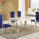 Salon moderne conçu Rectangle Table à manger en acier inoxydable