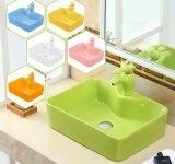 Санитарные продовольственный детей керамическая раковина для детских садов (B1002)