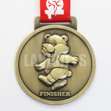 卸し売り新しいデザインカスタム3D旧式なめっきされたSouvenirmetalスポーツ賞メダル円形浮彫り