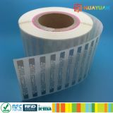 ISO18000-6C受動のHiggs 3 Aln9740 UHF RFIDの白紙のラベル