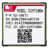 Lte 4G 모듈 SIM7100A Lcc 유형은 쿼드 악대 Lte-FDD B2/B4/B5/B17를 지원한다