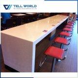 SGS/ISO9001公認の白い固体表面の円形の喫茶店表のダイニングテーブル