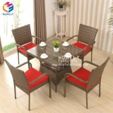 Hly modernos muebles de ratán sillón de mimbre mesa de jardín