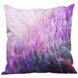 Funda de almohada de seda nórdica del campo de flor de la lavanda de la manera
