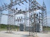 De gegalvaniseerde Post van de Transformator van de Stroom van het Staal Structurele die van de Pijp van het Staal wordt gemaakt