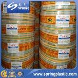유연한 PVC에 의하여 강화되는 섬유 땋는 물 관개 관 정원 관