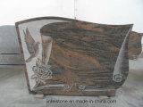 Pierre tombale noire absolue personnalisée de granit