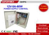 12V 5Aの出力CCTVのアクセス制御電源