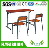 Klassenzimmer-Möbel-Doppelt-Schreibtisch und Stuhl (SF-11D)