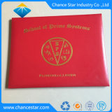 De Dekking van het Diploma van het Certificaat van het Leer van de douane A4 met Heet het Stempelen Embleem