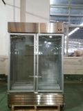 mit Verschluss und Griff Selbst-Entfrosten doppelte Tür Küche-Glastür-Kühlraum