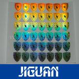 2017 collants ronds d'hologramme d'argent fait sur commande de logo, collants d'hologramme de garantie