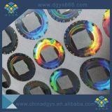 洗浄アルミニウム効果のホログラムのラベル