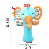 La peluche animale de dessin animé mignon ferraille le cadeau drôle éducatif de jouets de son de Bb de Bells de main pour nouveau-né