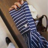 Camisas de polo rayadas de moda de las señoras de encargo de la ropa