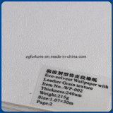 Da textura de couro por atacado da grão da fábrica papel de parede solvente de Eco