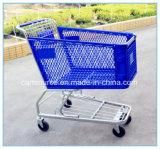 Carrinho Caddy grande 180L cesto de compras de supermercado de plástico Carrinho Carrinho