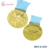 주문품 운동 경기를 위한 금에 의하여 도금되는 메달