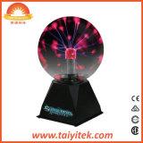 Da esfera mágica do plasma da fantasia luz de vidro do plasma com tabela de cristal