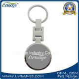 Metal branco Redondas personalizada Porta-chaves