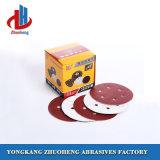 4 pouces de disques de ponçage abrasifs Velcro en usine pour le patin de ponçage