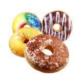 3D Kussen van de Vorm van het Voedsel van de Doughnut van het Hoofdkussen van het Beeldverhaal van de Druk Grappige Zachte Gevulde