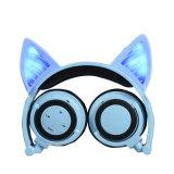 Bluetooth pliable rougeoyant de radio d'écouteur d'oreille de chat d'éclairage LED