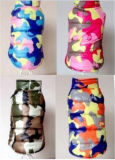 Chaqueta Cotton-Padded del camuflaje de cuatro colores para los perros