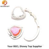 분홍색 다이아몬드 접히는 핸드백 훅 (XYmxl112404)