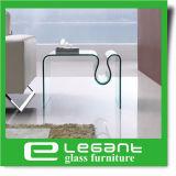 Tabella occasionale di vetro grigia con la cremagliera di scomparto