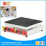 100 orifícios Poffertjes Grill máquina para uso comercial