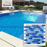 Блокировка высокого качества 23X48 Смесь синего цвета бассейн мозаика