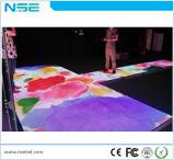 Buntes 3D LED Dance Floor 3D bewegliches RGB Säubern LED Dance Floor 3D des Hochzeitsfest-ausgeglichenes Glas-Panel-
