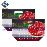 Sac stratifié d'emballage de Ziploc de fruits frais avec le trou de main