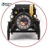Decoración Vintage Archaize forma coche Tabla de Metal el reloj de reloj de escritorio